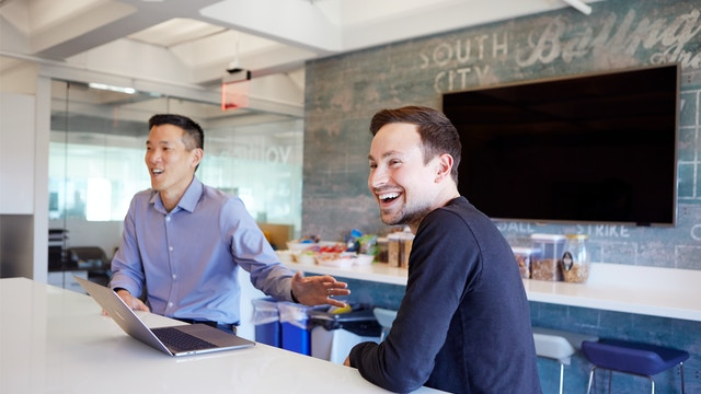 Larry Cheng and Ryan Cohen at Volition Capital HQ in Boston